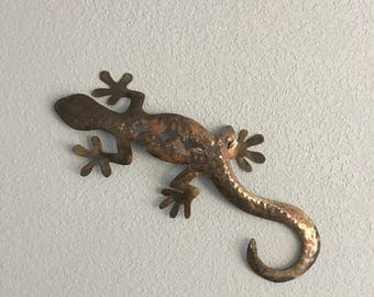 Gecko  - Lizard  - Metal Lizard  - Metal Art - Lizard Metal Wall Hanging   - Home Decor