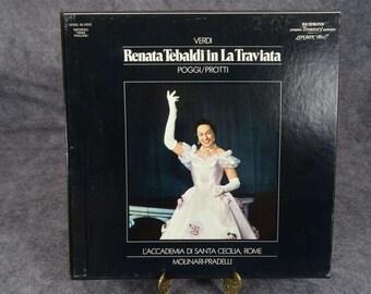 Verdi Renata Tebaldi In La Traviata Poggi/Protti Released In 1977