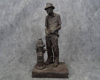 "Michaael Garman Hand Signed ""Tuck"" Ceramic Statue"
