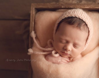 Peaches n Cream Farm Fluff - newborn photo prop - peach wool batting - basket stuffer - cloud layer