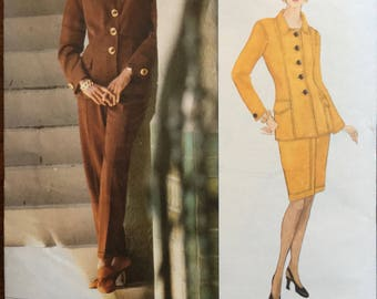 Miss Vogue 1411 UNCUT Sewing Pattern Genny Jacket Skirt Pants Size 6-10