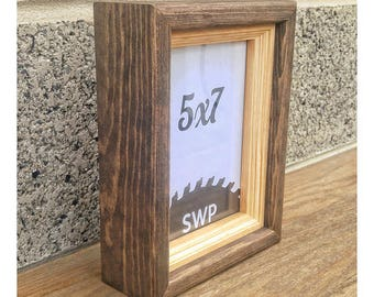 stained shadow box shadow box frame square wood frames wood shadow box - Shadow Box Frames