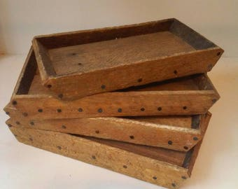 Rustic wood tray reclaimed wood tray