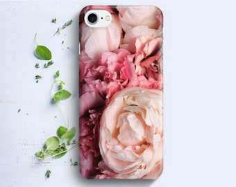 iPhone Case - Pink Peonies - iPhone 4/4s iPhone 5 iPhone 5c iPhone 5s iPhone 6 iPhone 6 Plus iPhone 6s iPhone 6s plus iPhone SE iPhone 7