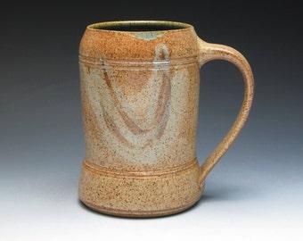 Large Stoneware Tankard-Mug, Classic Stoneware Mug, Studio Pottery Mug, Hand Thrown Pottery Mug