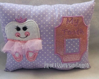Ballet dancer tooth fairy pillow