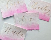 Calligraphy place cards or gift tags