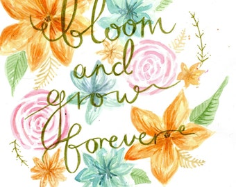 Edelweiss Sound of Music Bloom and Grow Forever Nursery Print