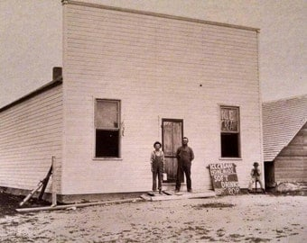 Antique Photo of Newly Painted Ice Cream Shop, Photo Dated 1915, Old Time Ice Cream Shop
