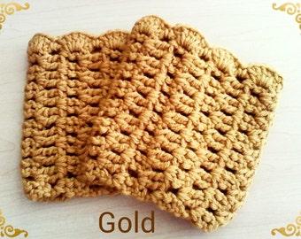 12 Inch Crochet Boot Cuffs