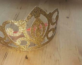 Gold glitter crown/tiara
