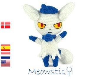 Crochet pattern Meowstic (Pokemon)