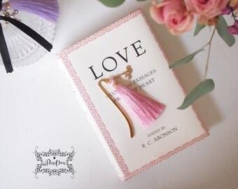 love Gold Bookmark