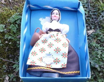 Vintage Doll Made in Italy, Emilia Romagna # 126 Collectable Doll, Vintage Doll  in Original Box, Vintage Toy Doll,