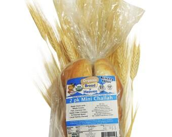 Organic 2-Pack Mini Challahs ~ (14 oz. pack)
