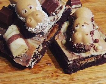 Hungry Hippo Chocolate Brownie, Bueno Brownie, Kinder Brownie, Chocolate Lover Traybake, Brownie Tray, Food Gift, Gift for Chocolate Lover
