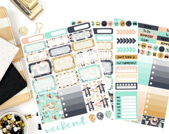 Forest Creatures Weekly Kit Stickers! Perfect for your Erin Condren Life Planner, calendar, Paper Plum, Filofax!