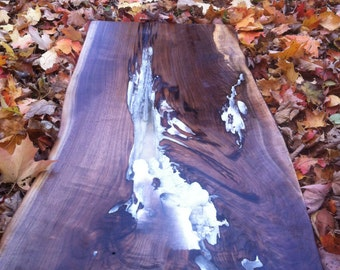 Black Walnut Live Edge Epoxy Table