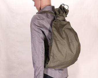 Canvas backpack - Military backpack - Vintage backpack - Green backpack - Army rucksack - Modern students backpack - Punk haversack