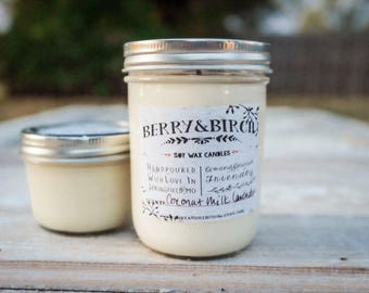 16 Oz COCONUT BLOSSOM Soy Candle-Non-Toxic-Eco-Friendly-Renewable