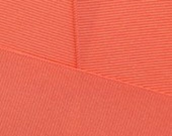 """Offray 1.5"""" Grosgrain Ribbon in Living Coral"""