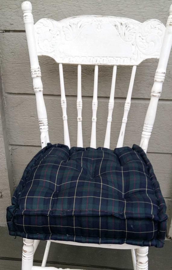Tartan chair cushion farmhouse chair cushion chair pad