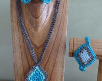 Necklace, bracelet and earrings - Collection Mahalo