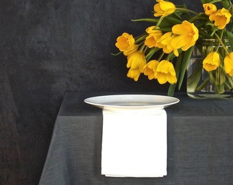 Dark Grey Linen Tablecloth, Modern tablecloth, Natural tablecloth, European linen tablecloth, Organic Tablecloth, Eco friendly tablecloth