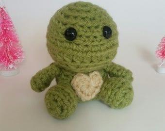 Crochet Mini Turtle Amigurumi Plush Stuffed Animal