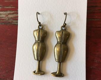Bronze Dressform Earrings
