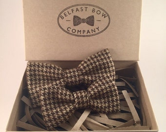 Handmade Father & Son Houndstooth Bowtie Gift Set