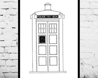 Doctor Who TARDIS Patent, Dr. Who TARDIS Poster, TARDIS Blueprint,  Dr. Who Tardis Print, Dr. Who Art, Doctor Who Tardis Decor