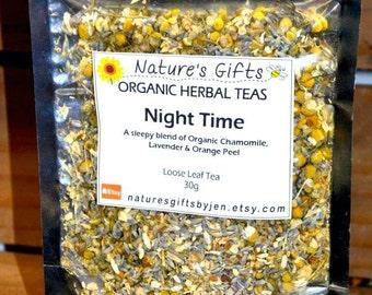 NIGHT TIME Organic Herbal Tea blend