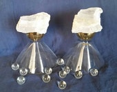 Selenite TWIN FLAME Crystal Gems for Soul Mates, Lovers and Best Friends -  Cosmic Sacred Moon Crystals for Access to Heavenly Realms