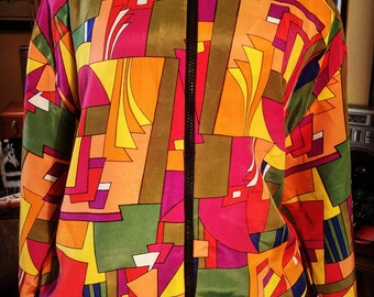 1980's-90's Rayon Jacket
