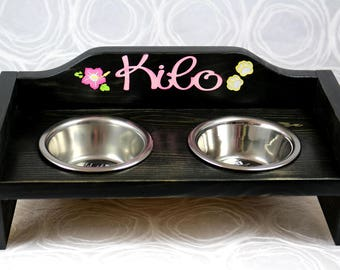 Small Dog or Cat Food, Water or Treat Bowl Set - FREE PERSONALIZATION