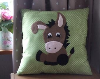 Animal Nursery Pillows : Donkey pillow Etsy