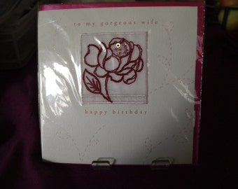 To My Beautiful Wife on Your Birthday   Card