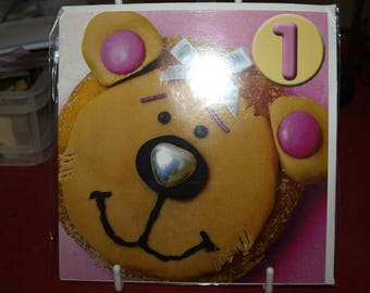 Beatrice the Bear 1 Birthday Card