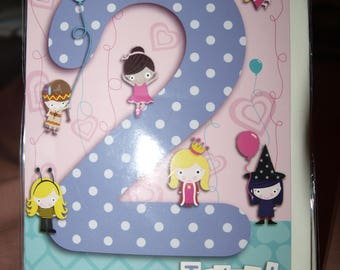 To a Special Girl 2 Today!  Birthday Card