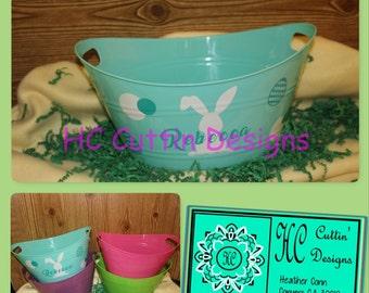 Personalized Easter Bucket & Personalized Jumbo Egg