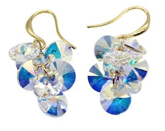 Sparkling swarovski crystal earrings