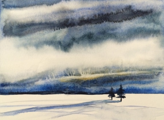 Snow painting, Winter landscape, Winter painting, Snowscape, snow, Wilderness, Stormy skies, storm clouds
