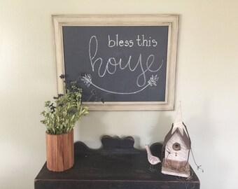 Large Fancy Chalkboard Frame