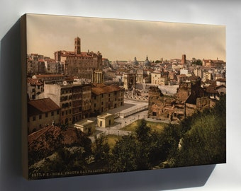 Canvas 24x36; A Panorama From The Palatine, Rome, Italy Lccn2001700956