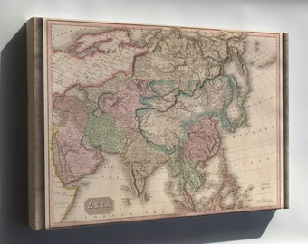 Canvas 24x36; Map Of Asia 1818
