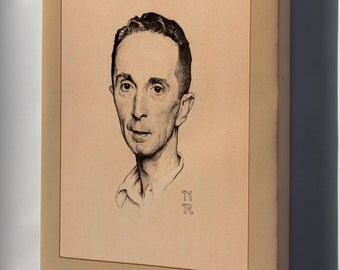 Canvas 24x36; Norman Rockwell, Self Portrait, 1920