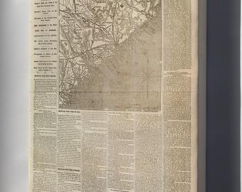 Canvas 24x36; Nyh 1862 Movement Near Charleston, South Carolina