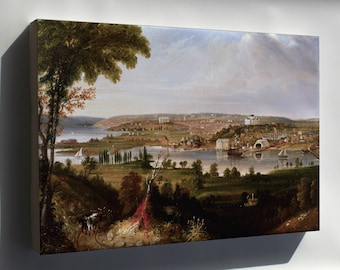 Canvas 24x36; Washington D.C. From Beyond The Navy Yard By George Cooke, 1833