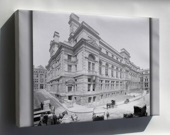 Canvas 16x24; 1906 Courthouse Boston Detroitpubco Lc